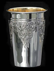 Silver Dipped Kiddush Cup - Chasing