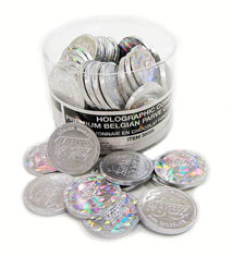 Large Hanukkah Coins - Nut-Free  Non-Dairy - Tub of 70