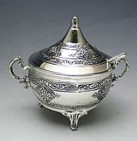 Silver Plated Honey Dish - Pas Prachim Collection