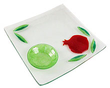 Fused Glass Pomegranate Tray