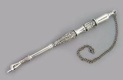 Silver Plated Torah Pointer - Jerusalem