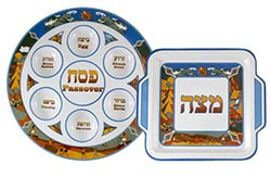 Illustrated Melamine Seder Set - Exodus