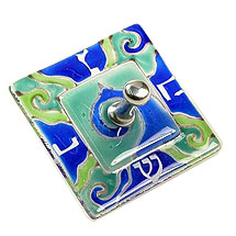 Fused Glass Dreidel by Michal - Square