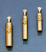 14K Gold Mezuzah Pendant with Zion Star