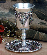 Silver Plated Wine Cup - Grape Design