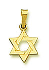 14K Gold Small Star of David Pendant