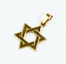 14K Gold Braided Star of David Pendant