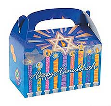 Hanukkah Cardboard Treat Boxes - Pack of 6