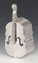Silver Etrog Box - Fiddle