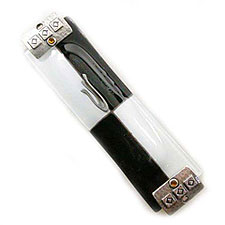 Black & White Glass Mezuzah