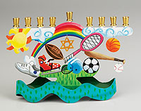 Assorted Sports Menorah by Karen Rossi