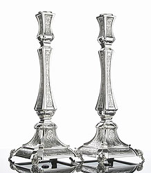 Sterling Silver Candlestick Set - Paris