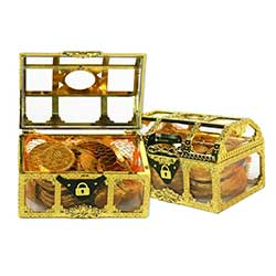 Hanukkah Gelt Treasure Chest - NUT FREE