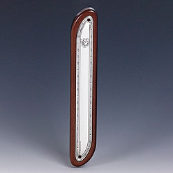 Wooden Sterling Silver Mezuzah Cover - Fine Design
