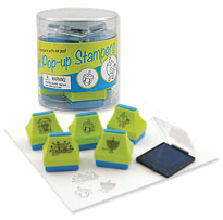 Set of 5 Hanukkah Pop-Up Stampers