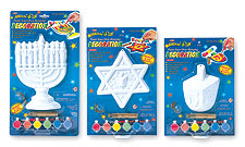 Paint-Your-Own Hanukkah Decoration - Set of 3 Styles