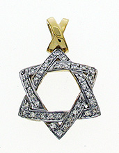 14K Gold Heavy Weight Star of David Pendant