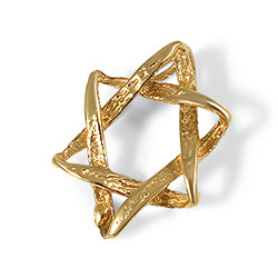 14K Gold Star of David Pendant