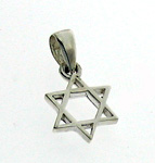 Small Silver Star of David Pendant