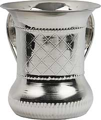 Nickel Plated Wash Cup - Quilted Design
