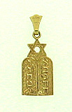 14K Gold 10 Commandments Breast Plate