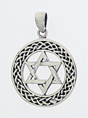 Large Silver Star Medallion Pendant