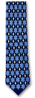 Silk Stars of David Necktie