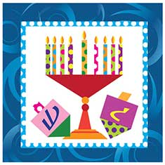 Hanukkah Large 2-Ply Napkins Pack of 40