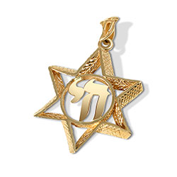14K Gold Unique Star Pendant