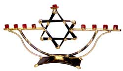 Gary Rosenthal Art Menorah - Star of David