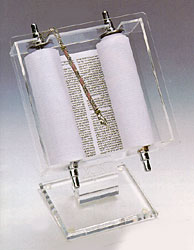 Complete Torah in Acrylic Display Stand
