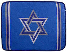 Preassembled Needlepoint Tallit Bag - Blue Star