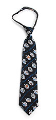 Childrens Easy Zip Chanukah Necktie - Dreidels