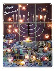 Large Hanukah Scene Electric Decoration