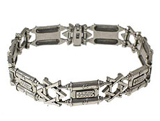 Heavy Weight Torah & Star of David Bracelet