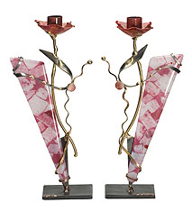 Gary Rosenthal Art Candlesticks - Woman of Valor