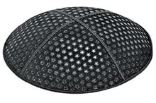 Embossed Suede Kippot - Small Stars