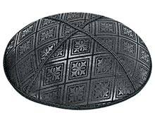 Embossed Suede Kippot - Tiled