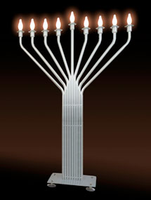 New Infinity Jumbo Display Menorah  - 6 1/2 Ft Tall
