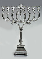Sterling Silver Traditional Menorah