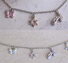 Adorable Girly Judaic Bracelets - Ballerina