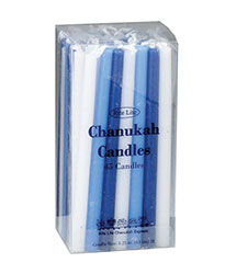 Deluxe Blue & White Hanukkah Candles