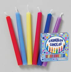 Multicolor Fun Hanukkah Candles