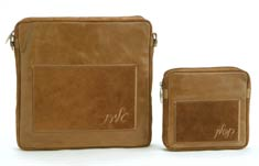 Leather Tallit/Tefillin Bag- All Tan