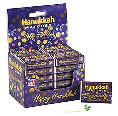 Happy Hanukkah Box of Matches - 32 Count