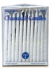 Elegant Long White on White Lace Candles