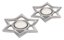 Pewter Star Shaped Tea Light Holders