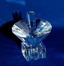 Crystal Umbrella Dreidel with Stand