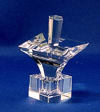 Optic Crystal Dreidel