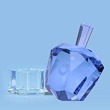 Diamond Solitaire Crystal Dreidel